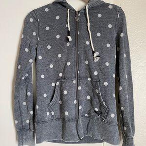 Polka dot hoodie   Roxy   xs
